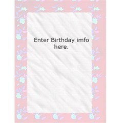 Birthday Invite Or Luau Invite By Danielle Christiansen   Greeting Card 4 5  X 6    0fvky6sclcox   Www Artscow Com Back Inside