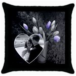 Wedding Pillow #1 - Throw Pillow Case (Black)