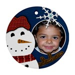 snowman christmas ornament - Ornament (Round)