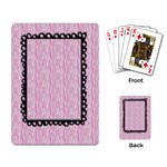 Playing Cards- Pink Zebra - Playing Cards Single Design