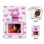 My little princess cards - Playing Cards Single Design