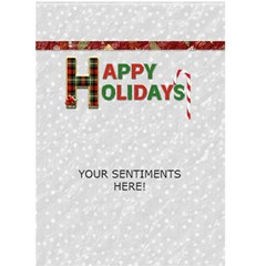 Christmas Card #3 By Lil    Greeting Card 5  X 7    74bw234s5ste   Www Artscow Com Back Inside