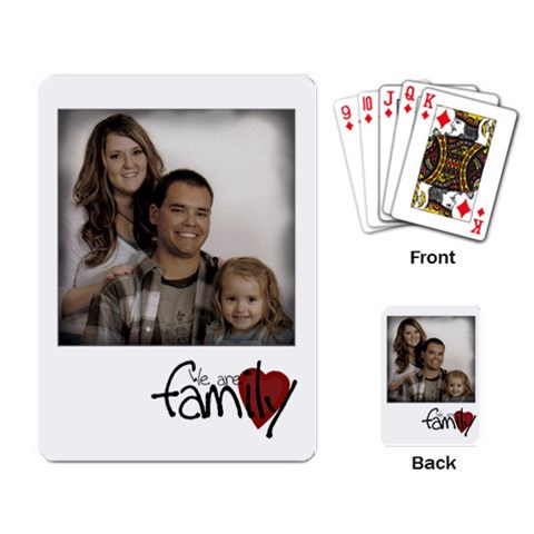 We Are Family Cards By Amanda Bunn   Playing Cards Single Design   J2sdtddpuxjz   Www Artscow Com Back