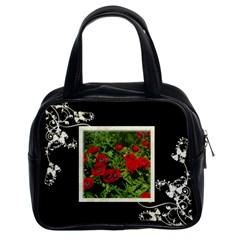 Black & White Handbag By Catvinnat   Classic Handbag (two Sides)   F9jyhvdxv5sh   Www Artscow Com Front