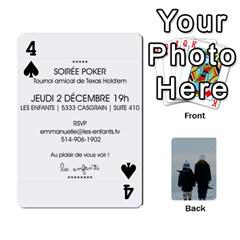 Lesenfants By Emmanuelle   Playing Cards 54 Designs   79uvlf34il03   Www Artscow Com Front - Spade4