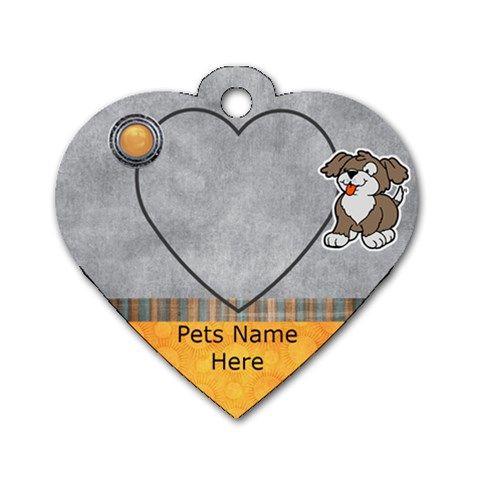 Cuddle Time Pet Tag Dog By Bitsoscrap   Dog Tag Heart (one Side)   Ha9c056bkqgn   Www Artscow Com Front