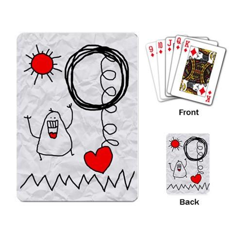 Garabatos Cards By Carol   Playing Cards Single Design   Izh2oeonj3ac   Www Artscow Com Back