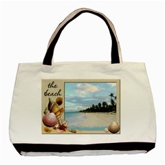 Beach   Ocean Tote By Lil    Basic Tote Bag (two Sides)   Eb15r46kqsy8   Www Artscow Com Front