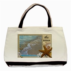 Beach   Ocean Tote By Lil    Basic Tote Bag (two Sides)   Eb15r46kqsy8   Www Artscow Com Back