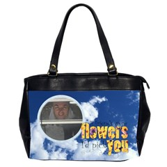 Clouds Friends Oversized Handbag By Catvinnat   Oversize Office Handbag (2 Sides)   8saq8ssev6a1   Www Artscow Com Front