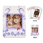 Flower Palying card - Playing Cards Single Design