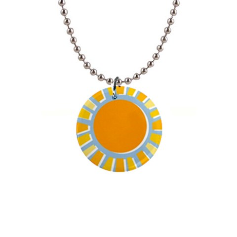 Sunshine Necklace By Mikki   1  Button Necklace   Q3cjc1f81r92   Www Artscow Com Front