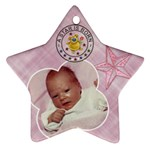 Baby Girl Ornament - Star Ornament (Two Sides)