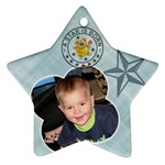 Baby Boy Ornament - Star Ornament (Two Sides)