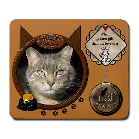 Cat Mousepad By Lil    Large Mousepad   58sgvnhjg4xt   Www Artscow Com Front