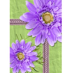Purple Daisies Blank Card By Angela   Greeting Card 5  X 7    Evjoaxbu3mzz   Www Artscow Com Front Cover