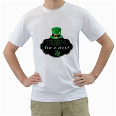 St  Patricks Day T Shirt (see Back Of Shirt) By Lil    Men s T Shirt (white) (two Sided)   Qopcapezo0v5   Www Artscow Com Front