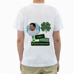 St  Patricks Day T Shirt (see Back Of Shirt) By Lil    Men s T Shirt (white) (two Sided)   Qopcapezo0v5   Www Artscow Com Back