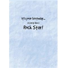 Rock Star Birthday 4 By Debra Macv   Greeting Card 5  X 7    Htzlgaxyixql   Www Artscow Com Back Inside