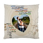 Live, Love, Laugh Pillow - Standard Cushion Case (Two Sides)