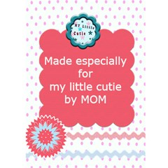 My Little Cutie Birthday Or Every Day Card By Danielle Christiansen   Greeting Card 5  X 7    Eabyquttnsfv   Www Artscow Com Back Cover
