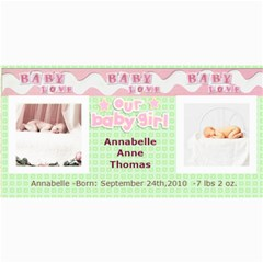 Baby Girl Announcement Template By Danielle Christiansen   4  X 8  Photo Cards   Bvh4w7swk1sx   Www Artscow Com 8 x4 Photo Card - 1