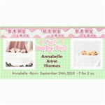 baby girl announcement template - 4  x 8  Photo Cards