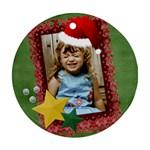 Santa Hat ornament - Ornament (Round)