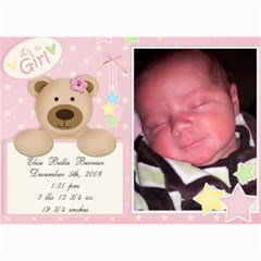 Jensens Birth Annoucements By Jamey   5  X 7  Photo Cards   Sno5ff2g4nrr   Www Artscow Com 7 x5 Photo Card - 17