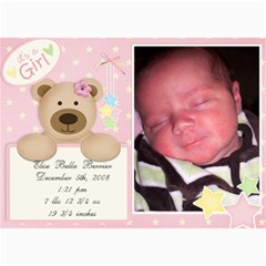 Jensens Birth Annoucements By Jamey   5  X 7  Photo Cards   Sno5ff2g4nrr   Www Artscow Com 7 x5 Photo Card - 19