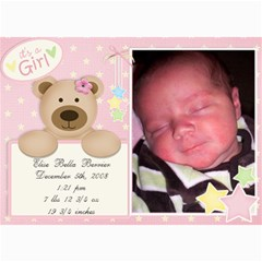 Jensens Birth Annoucements By Jamey   5  X 7  Photo Cards   Sno5ff2g4nrr   Www Artscow Com 7 x5 Photo Card - 20