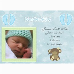 Jensens Birth Annoucements By Jamey   5  X 7  Photo Cards   Sno5ff2g4nrr   Www Artscow Com 7 x5 Photo Card - 5