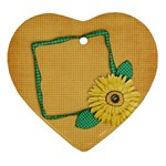Gingham Daisy ornament - Ornament (Heart)