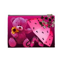 Cute Girl   Custom Cosmetic Bag By Carmensita   Cosmetic Bag (large)   Xtri5nhxkzpw   Www Artscow Com Back