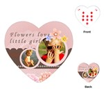 Flower  Girl - Playing Cards (Heart)