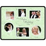 Perfect Wedding Day Gift Fleece Template green - Fleece Blanket (Large)