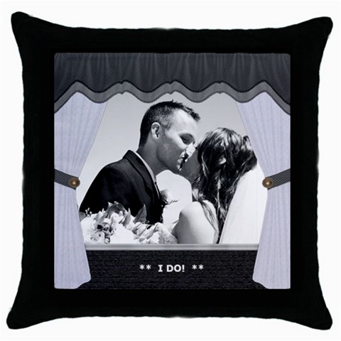 Wedding Pillow By Lil    Throw Pillow Case (black)   Igtkv3j7fnoe   Www Artscow Com Front