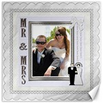 Mr. & Mrs 16x16 Canvas - Canvas 16  x 16