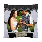 Charcoal/White Pillow - Standard Cushion Case (Two Sides)