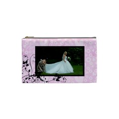 Bridal Cosmetic Bag Lavendar By Catvinnat   Cosmetic Bag (small)   W5cyzoa1yelc   Www Artscow Com Front