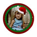 Round Santa Hat ornament - Round Ornament (Two Sides)