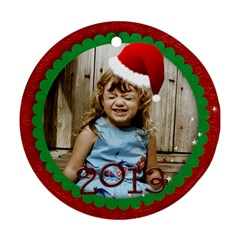 Round Santa Hat Ornament By Mikki   Round Ornament (two Sides)   Wj8f10okbdpk   Www Artscow Com Back