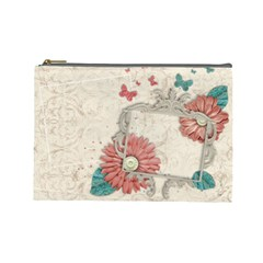 Floral By Mikki   Cosmetic Bag (large)   9byrodz97gqv   Www Artscow Com Front
