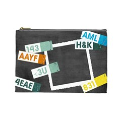 Text Messages By Mikki   Cosmetic Bag (large)   T53zqcm59ai4   Www Artscow Com Front