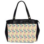 Bucket Bag, flowers - Oversize Office Handbag (2 Sides)