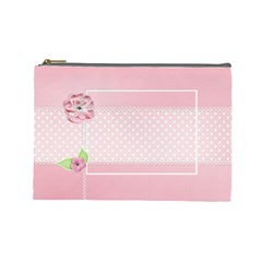 Pink  Case  Large  Template By Jennyl   Cosmetic Bag (large)   Hick6d7xdhew   Www Artscow Com Front