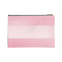Pink Flower Case  Large  Template By Jennyl   Cosmetic Bag (large)   A1052wdb65ww   Www Artscow Com Back