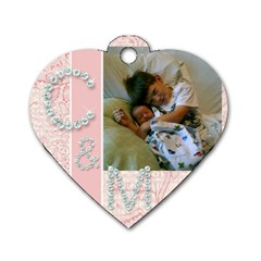 Kristin By Christina Campbell   Dog Tag Heart (two Sides)   9lqyvvvsk3gz   Www Artscow Com Front