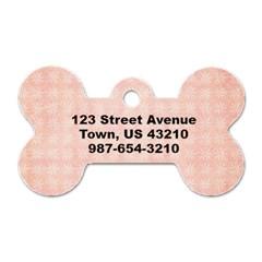 Pink Floral Dog Tag By Mikki   Dog Tag Bone (two Sides)   8dd2cha43wlq   Www Artscow Com Back