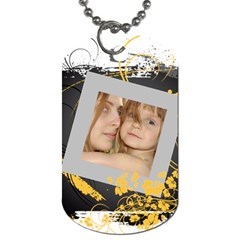 Flower Tag By Wood Johnson   Dog Tag (two Sides)   Scnsc4pia0jm   Www Artscow Com Back
